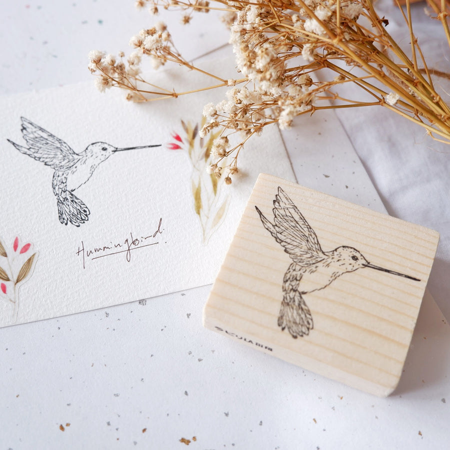 Laabiri Humming Bird Rubber Stamp