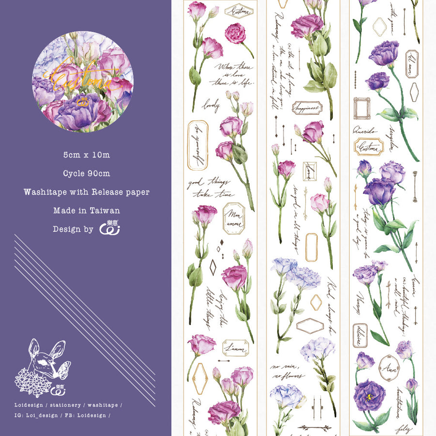 Loidesign eustoma 5cm Washi Tape