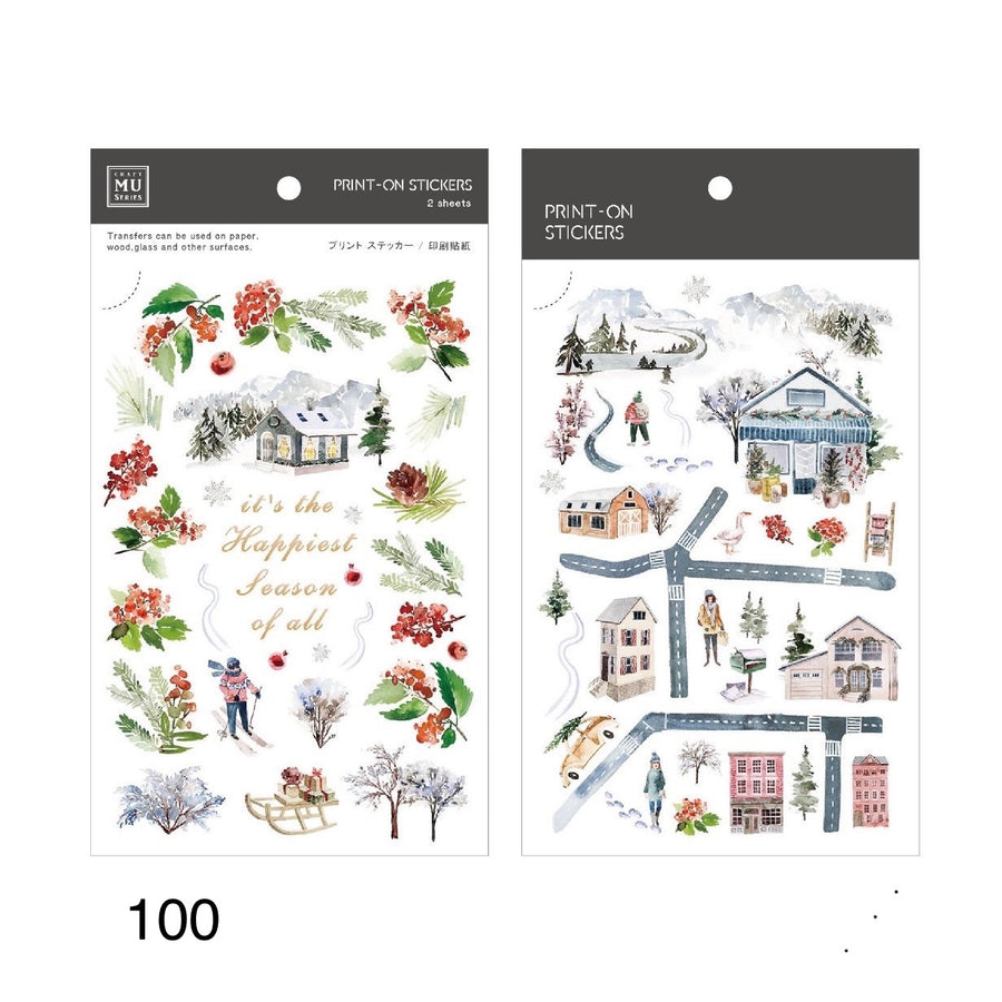 MU Print-On Sticker - Christmas【LIMITED EDITION】