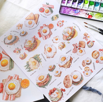 Sonia's Illustration Life It's egg washi tapes