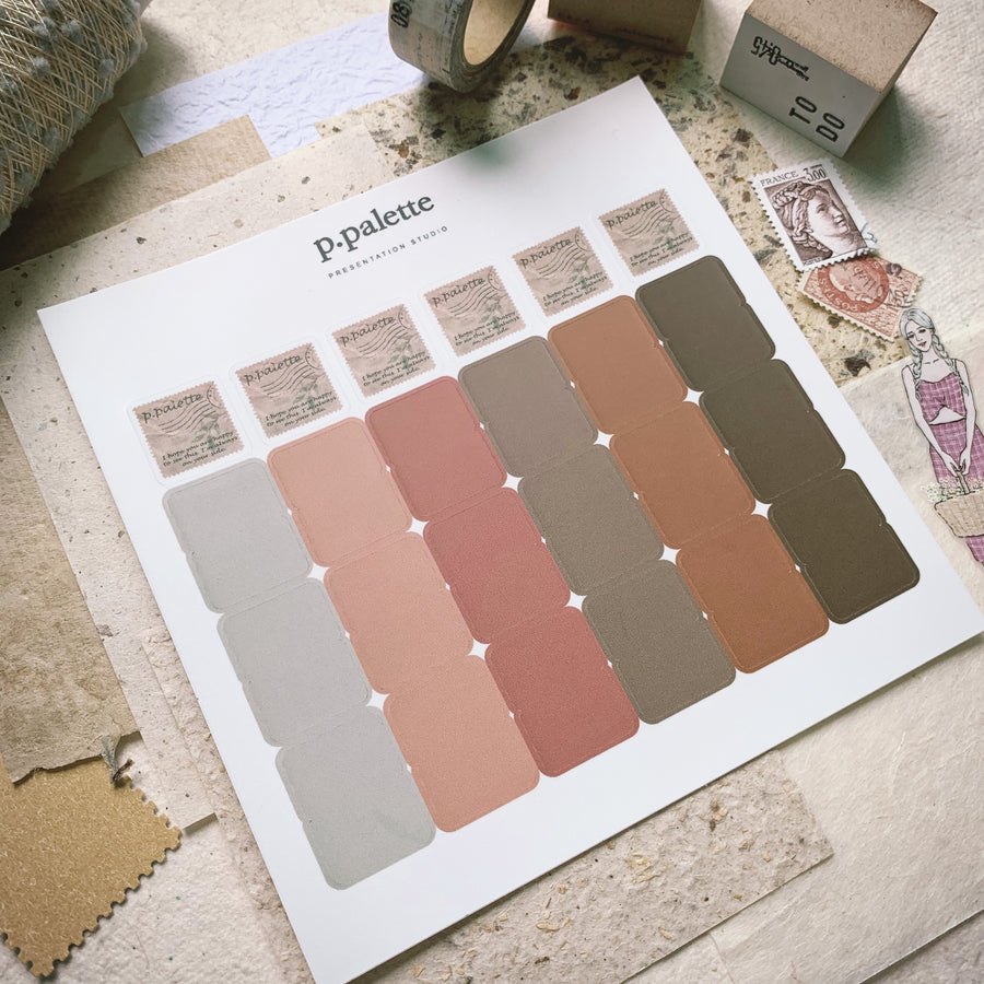 P.Palette Fall palette Index stickers
