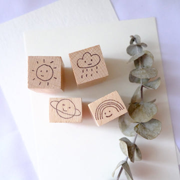 Kurukynki Exclusives Smiley Days Rubber Stamp - mood