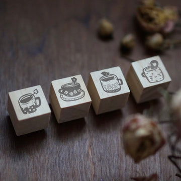 Black Milk Project mini Rubber Stamp set - Tea time