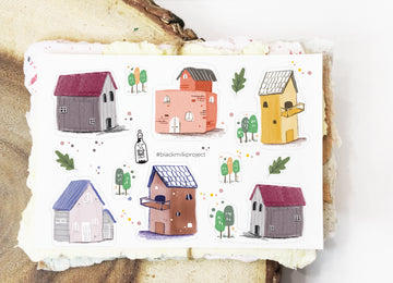 Black Milk Project mini sticker sheets -Houses