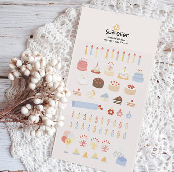 Suatelier Sticker Sheet - Cake is here!