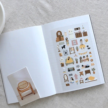 Suatelier Vlog Home Sticker Sheet