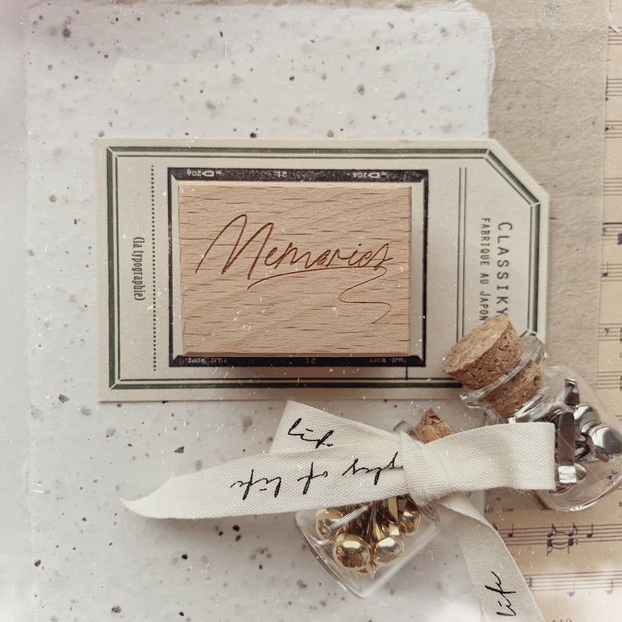 Journal Pages《Puzzles of Life》words Rubber Stamps