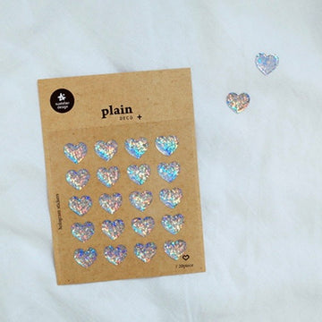 Suatelier hologram Sticker Sheet - heart