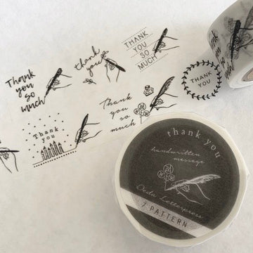 "Oeda letterpress ""Handwritten"" Thank You Wash Tape"