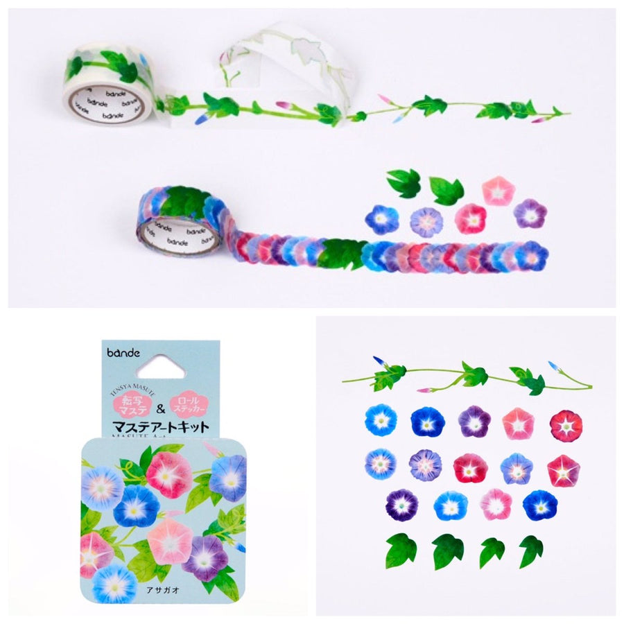 Bande Morning Glory washi roll sticker