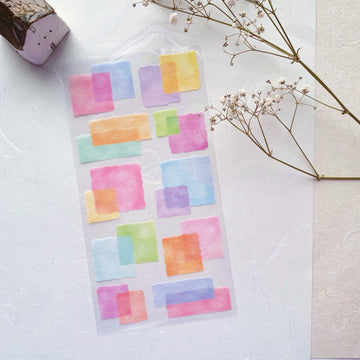 Mind Wave watercolour block layers washi sticker