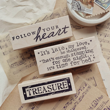 CatslifePress Treasure Rubber Stamp