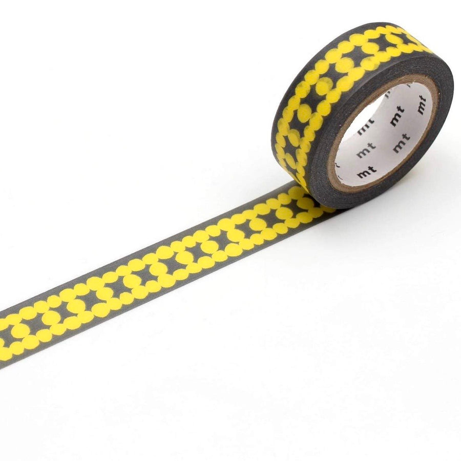 MT Ladder Dot Yellow Washi Masking Tape