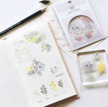 MU Clear Splice Stamp Set - Botanical lll