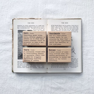 Liberty Dictionary Series Stamp set - yarn,handmade,notes,gift
