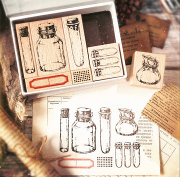 LadyF Observation Room Test Tube Stamp Set