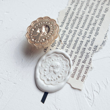 Feygu studio the Renaissance series wax seal stamp - the pearl girl
