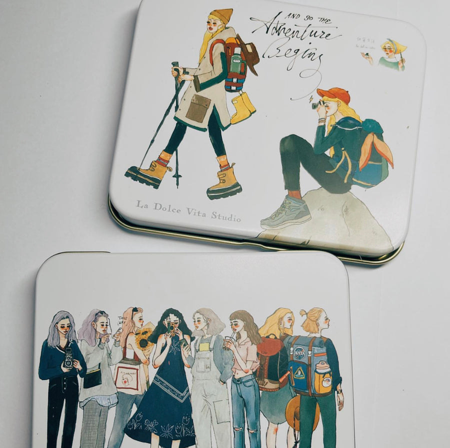 LDV Bon voyage Sticker Set with tin box(New version )