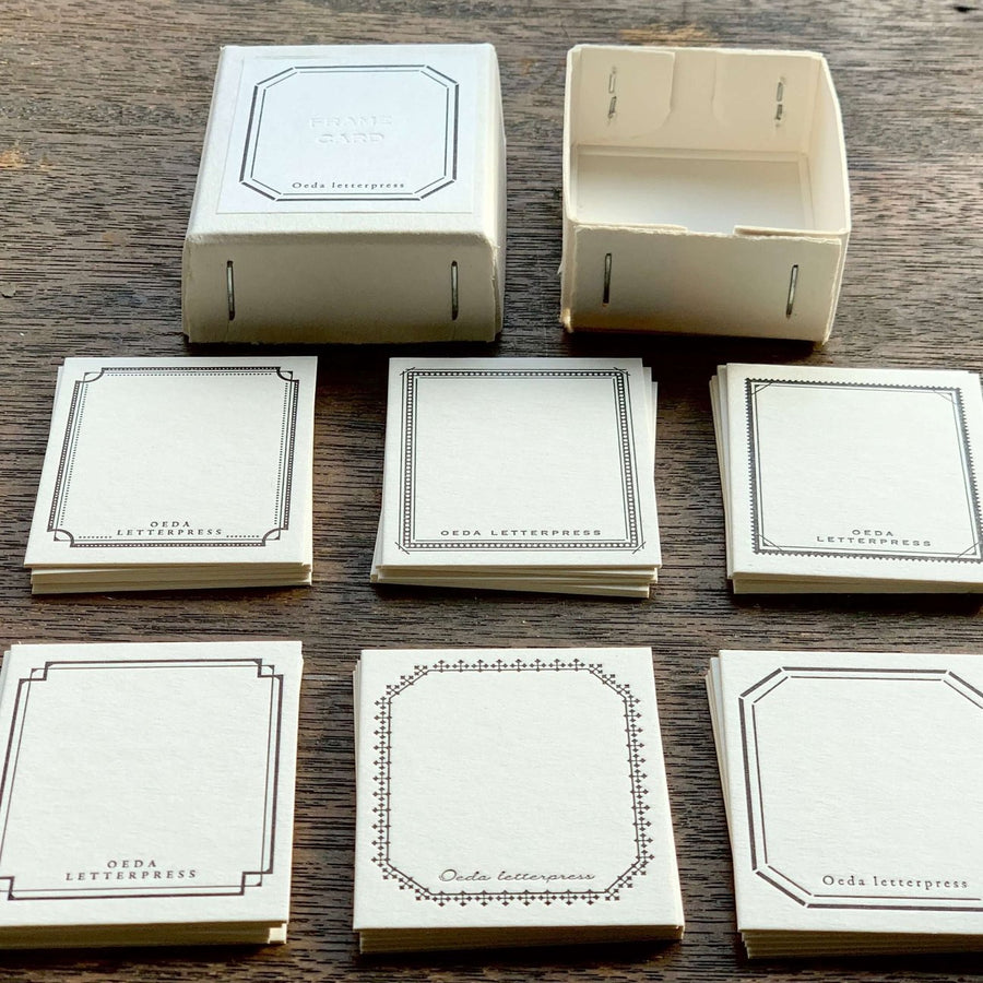 Oeda letterpress Frame mini card box