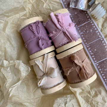 Vintage Hand-torn Shiffon Ribbon