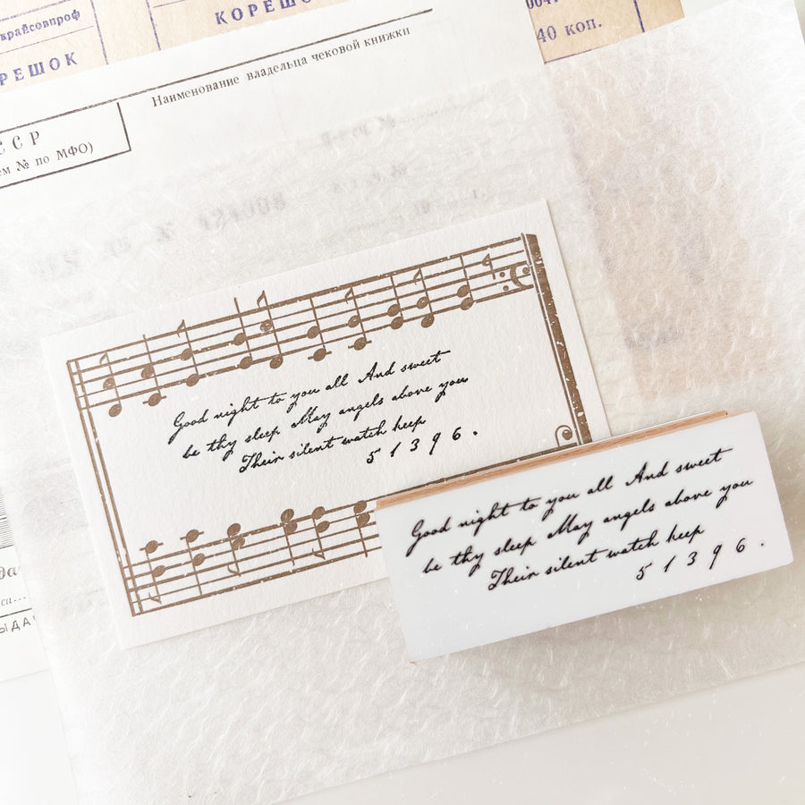 B.Book Rubber Stamps - Handwriting