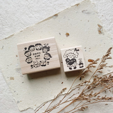 Hankodori original rubber stamp - Pray