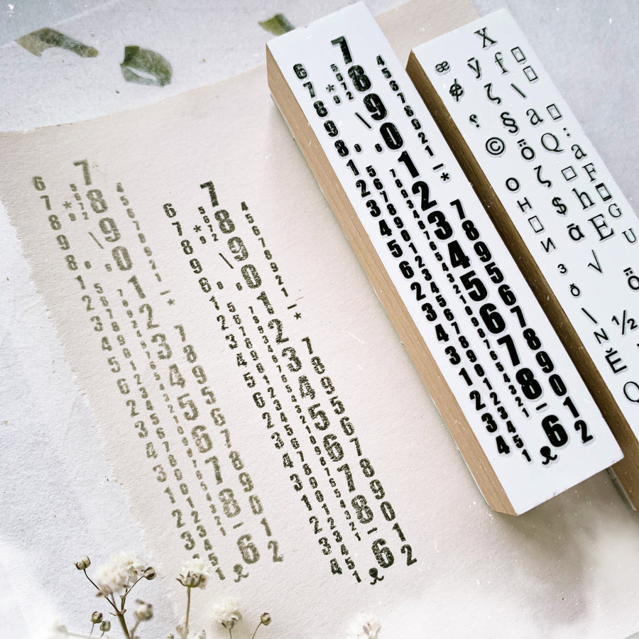 B.Book numbers & garbled code Rubber Stamp