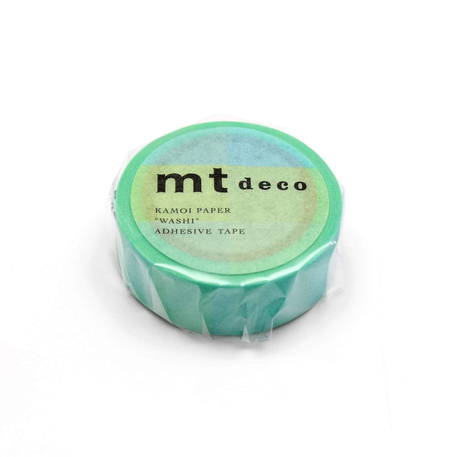 MT Deco Washi Tape Fluorescent Blue x Yellow