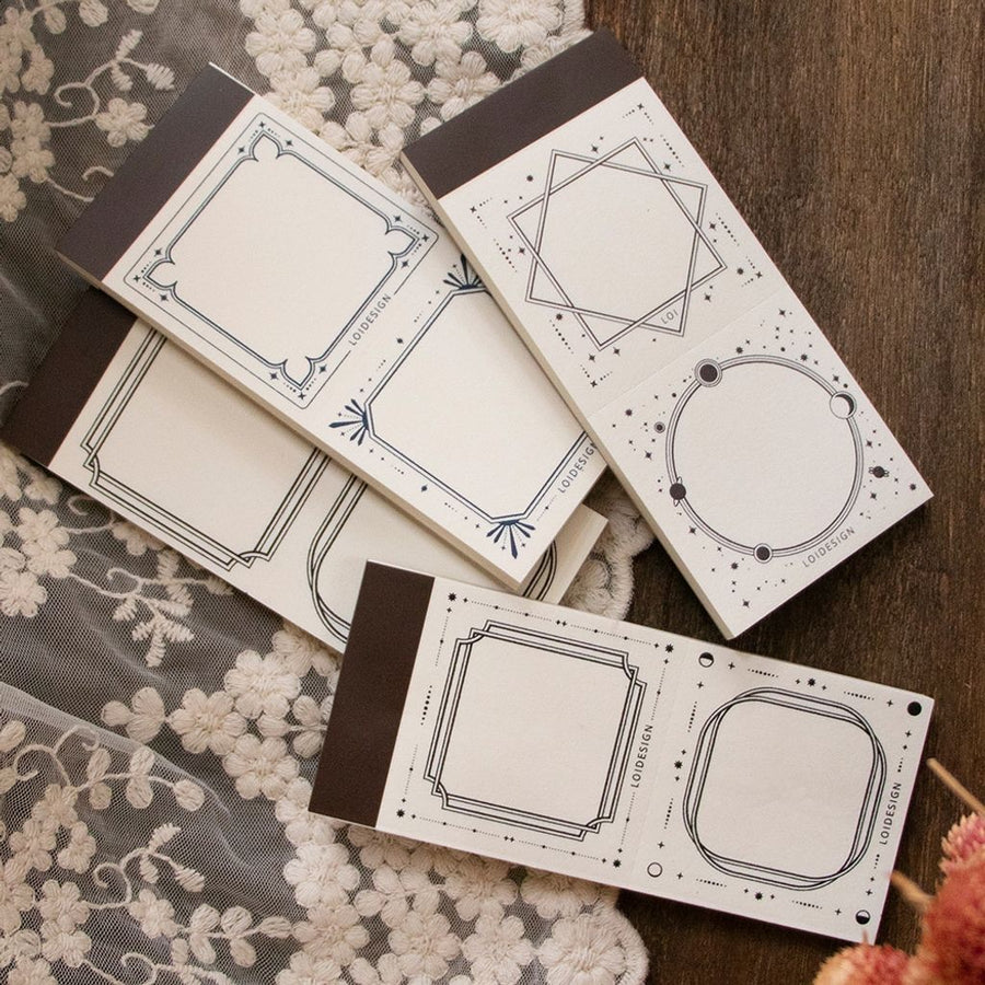 Loidesign occult letterpress notepad