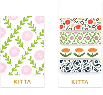 Kitta Basic washi tape - Flower 3