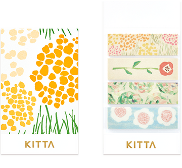 Kitta Basic washi tape - Flower 2