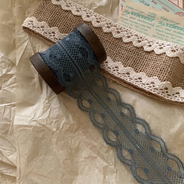 Vintage French Lace Ribbon - Blue Moon