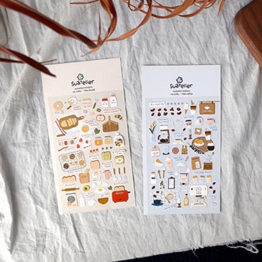Suatelier I like Coffee Sticker Sheet