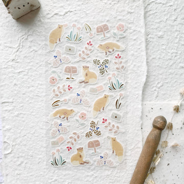 Yama Life Animal Washi Sticker Sheet - Fox