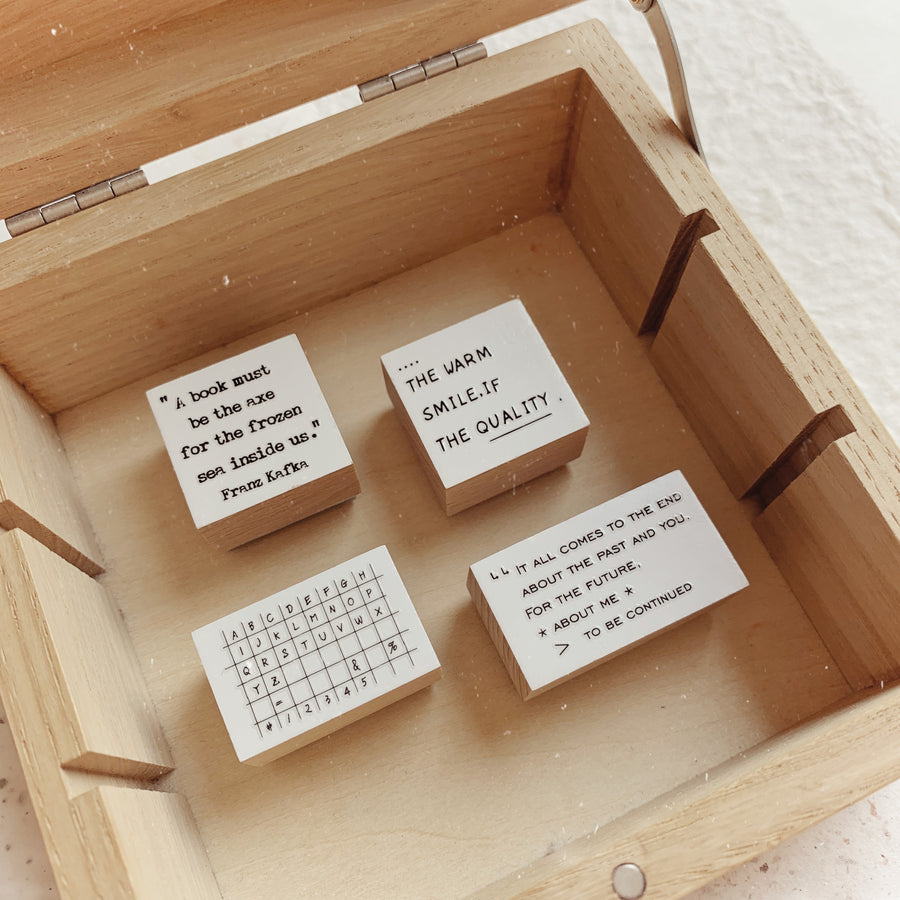 B.Book Rubber Stamps - Summer words