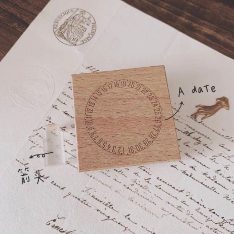 【A daTe】Rubber Stamp