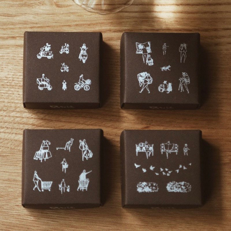 Modaizhi one day2 rubber stamp set