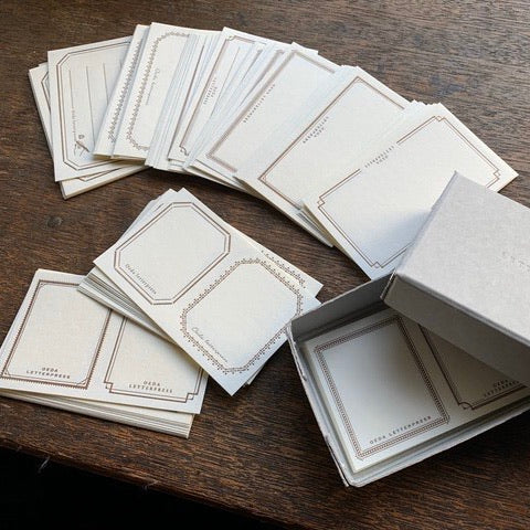Oeda letterpress label sticker box set