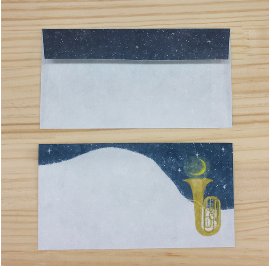 Akira Kusaka Japanese mino Letter set - Tone of the Night Sky