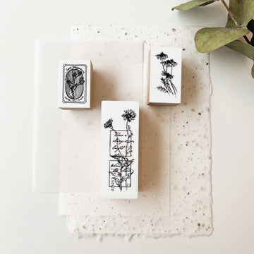 B.Book Rubber Stamps - floral