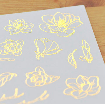 MU foil print on sticker - the magnolias