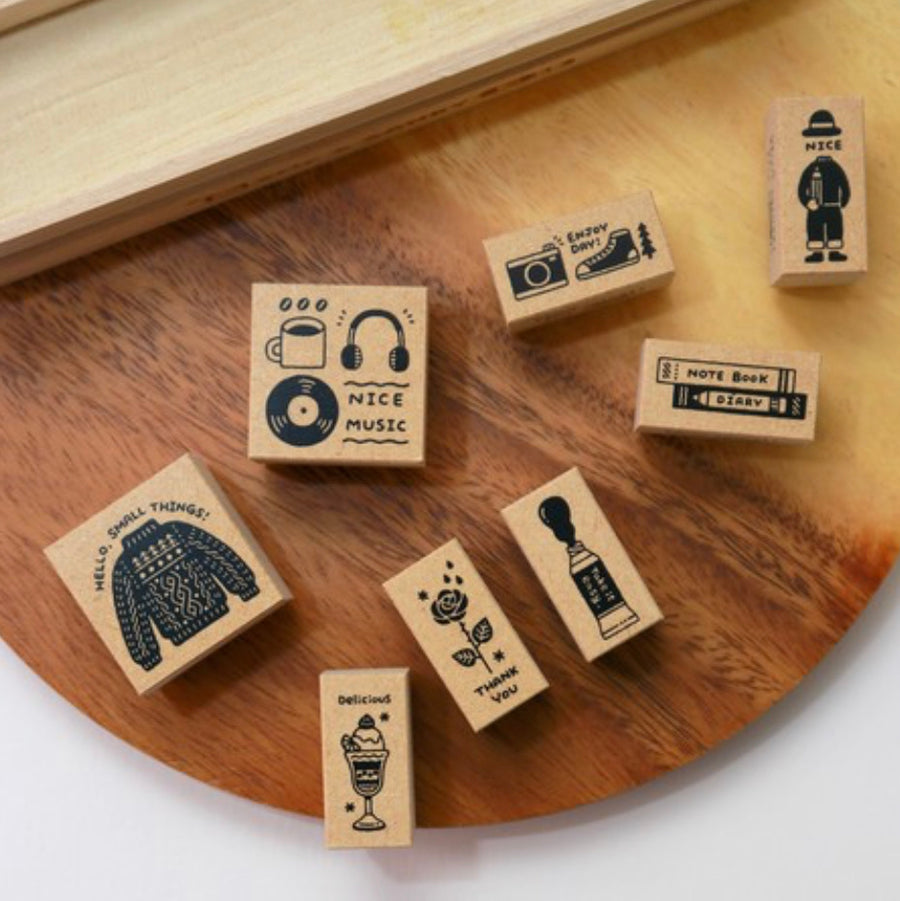 Eric - Small things rubber stamp set