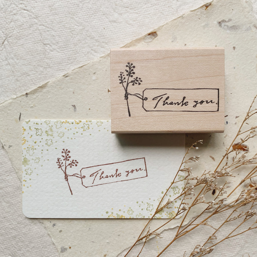 Hankodori original rubber stamp - Thank You