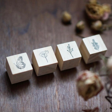 Black Milk Project mini Rubber Stamp set - Secret garden