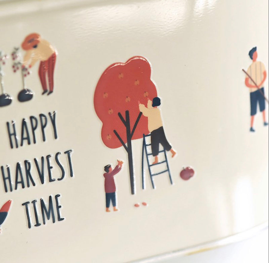 MU Crystal Rub-on sticker 014 - Happy Harvest Time