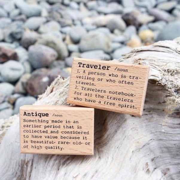 Liberty Dictionary Series Rubber Stamp - Traveler
