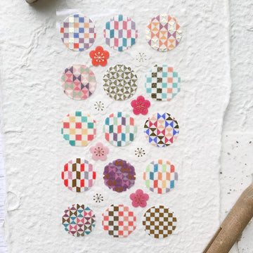Wanowa Colourful checkered Sticker Sheet