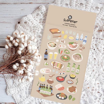 Suatelier Sticker Sheet - Food trip #3