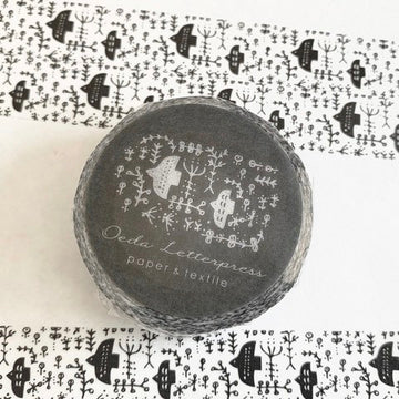 Oeda letterpress Black Bird  Wash Tape