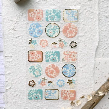 Wanowa Japanese Flower Sticker Sheet